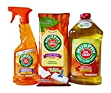 Murphy Oil Soap Multi-Use Wood Cleaner with Natural Orange Extract, 22 Fl. Oz. Pump Trigger Spray, Murphy Oil Soap Original Wood Cleaner Concentrate, 32 Fl. Oz., & Murphy Soft Wipes Multi-Use Wood Cleaner, 18 Count-Large Size Wipes in Resealable Package; Economy Bundle (All contain 98% Naturally Derived Ingredients)