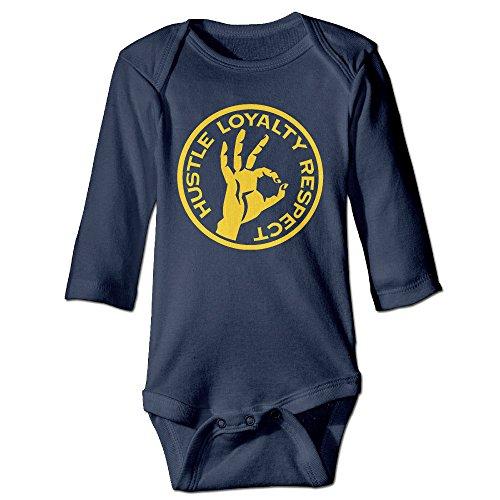 NINJOE Babys John OK Cena Logo Long Sleeve Romper Bodysuit Outfits Navy 18 M (Nikki Bella Outfit)