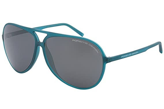 2340ea778f7f Amazon.com  Porsche Design P8595 P 8595 A Green Blue Blue Pilot Sunglasses  63mm  Clothing
