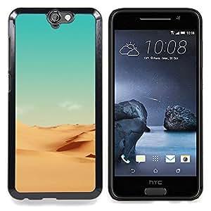 - Minimalist Desert Scenery - - Cubierta del caso de impacto con el patr??n Art Designs FOR HTC ONE A9 Queen Pattern