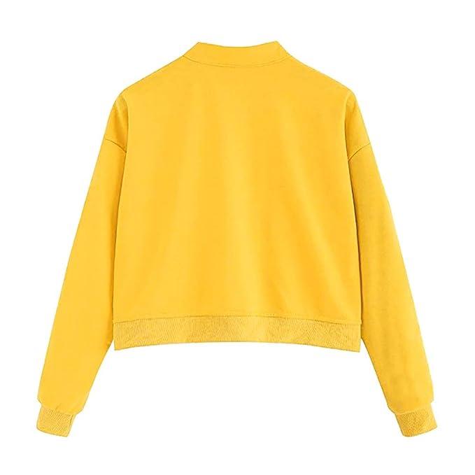 Mujer sudadera sin capucha Otoño,Sonnena ❤ Sudadera de manga larga para mujer casual de moda Jumper Pullover Blusa sin tirantes: Amazon.es: Hogar