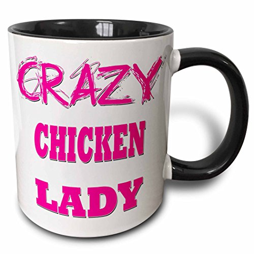 Crazy Chicken Lady - Two Tone Black Mug, 11oz