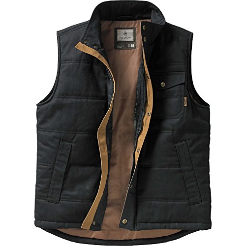 Legendary Whitetails Mens Bison Canvas Vest (Large, Black)