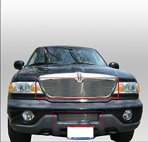 ZMAUTOPARTS Lincoln Navigator Front Upper + Bumper Billet Grille Grill Insert Combo
