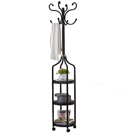 Amazon.com: LYQZ Wrought Iron Flower Stand, Floor-Standing ...