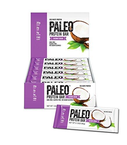 Paleo Protein Bar® (Coconut Cream) 12 Bars (20g Egg White...
