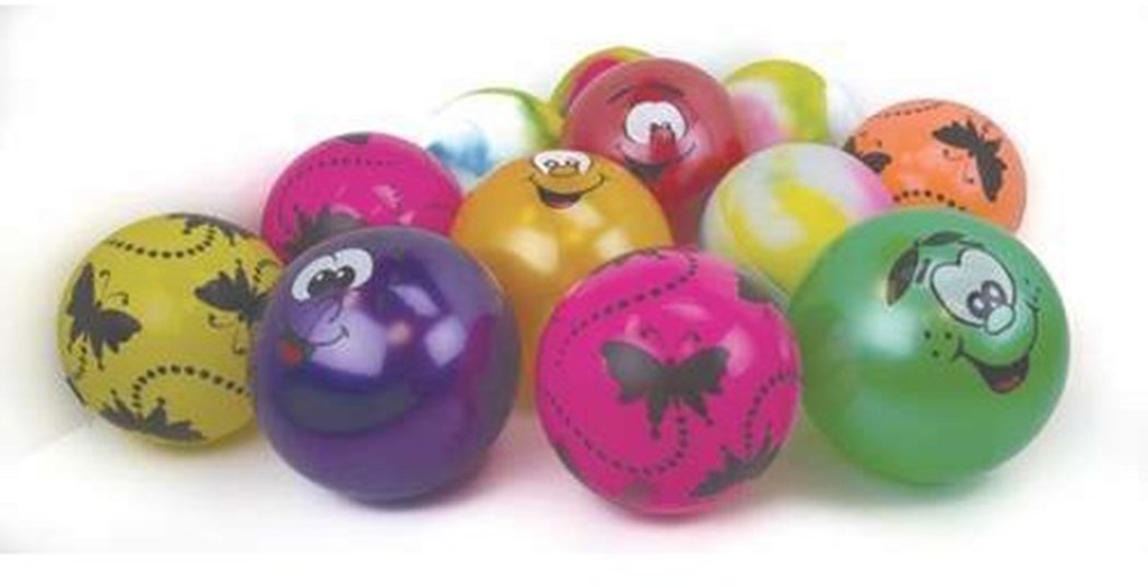 Kids Garden Games Outdoor Playing Assorted Design Playtime Play Ball Pack Of 12