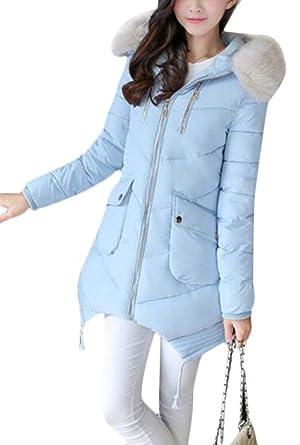 Femme Doudoune Manteau Printemps Automne Longues Col en Fausse Fourrure  Quilting Blouson Fashion Mode Chic Casual Confortables Veste A Capuche avec  Poches ... a5fb8c532f07
