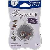 Bleu lune perles Story Boîtes en métal charme, infirmière, assortiment, pack de 5