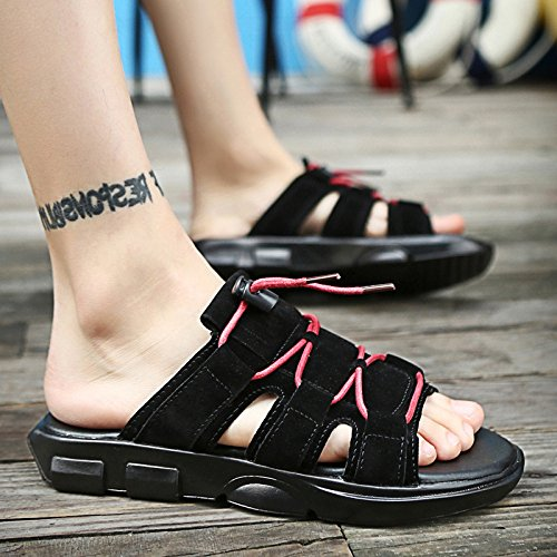 Soft Drag Fashion 40 Blackwhite Wear Bottom Mens Antideslizantes Zapatillas Trend Beach Summer XING Sandalias Herringbone Summer Black 43 Leisure GUANG Word Shoes 1xUwE6Pq
