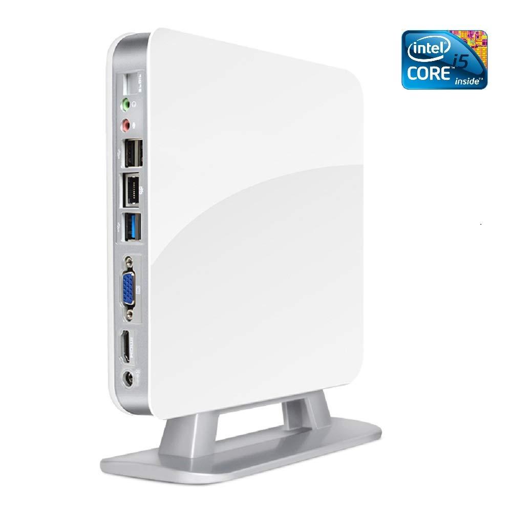 最新最全の Vevin 小型パソコン ミニPC 小型デスクトップ 静音 Mini PC 静音【第四世代Core i5 ミニPC PC】【SSD 120GB】【メモリ4GB】【Win 10 Pro搭載】(ホワイト) B07JGWY646, ザッカーグplus いいもの見つけた:8946bfb0 --- martinemoeykens.com