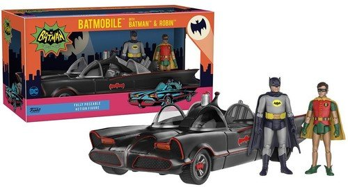 Funko DC Heroes 1966 Batmobile Vehicle with Batman and Robin Action Figure (1966 Batmobile)