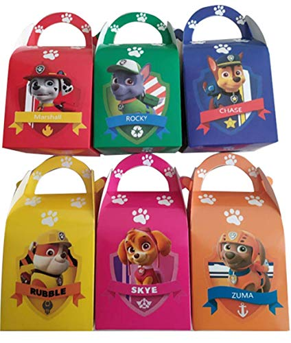 18PCS paw patrol birthday shower party gift box/processing box/candy box/gift box -