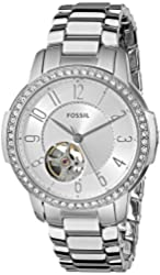 Fossil Women's ME3057 Architect Automatic Self-Wind Stainless Steel Watch - Silver-Tone