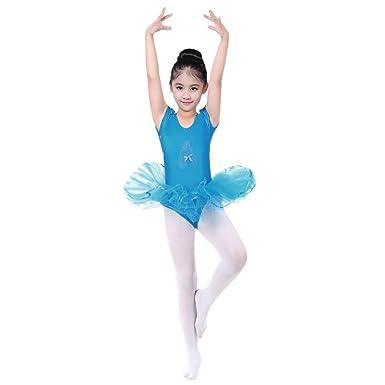 0392ba84f0824 Sunenjoy Enfant Fille Princesse Ballerina Costume Justaucorps de Danse  Classique Ballet Tutu sans Manches Fête Partie