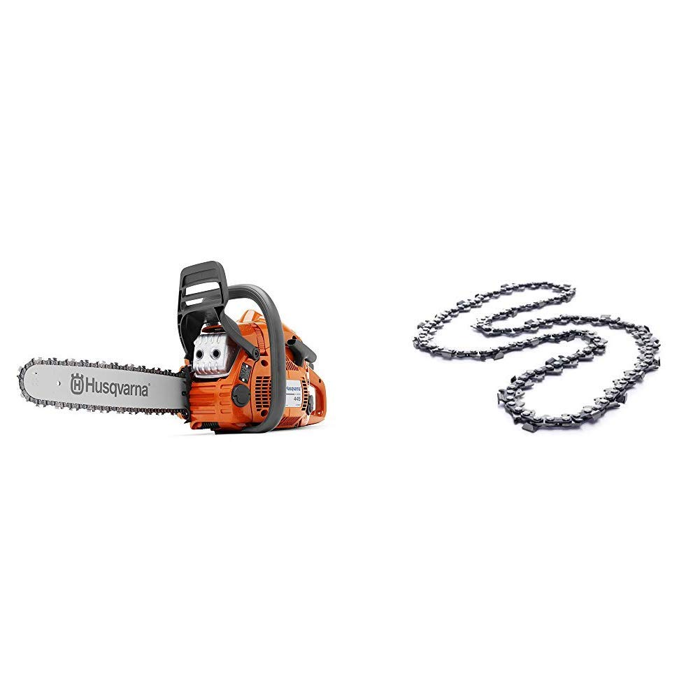 Husqvarna 445e 18 in. Chainsaw with 18 in. X-Cut Chainsaw Chain - 0.325 Pitch, .050 Gauge