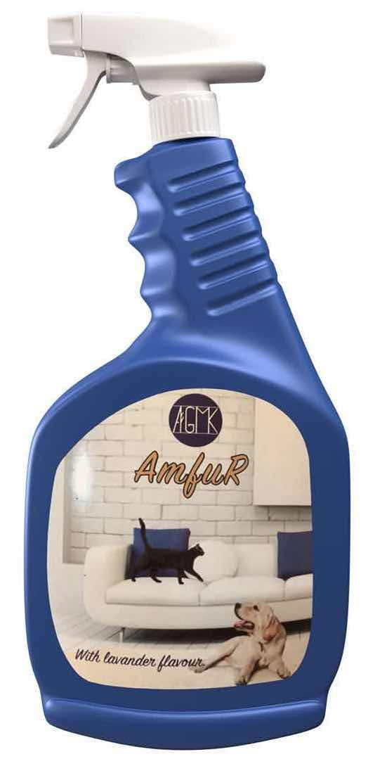 """Best Pet Remover Spray """"Amfur"""" with Cleaning Base, Fur Removal Spray Kit, Dog Cat Hair Remover for Clothes, Furniture, Car, Couch, Carpet, Hypoallergenic Pet Hair Remover, Dust Mites Reducer, Pet Safe"""
