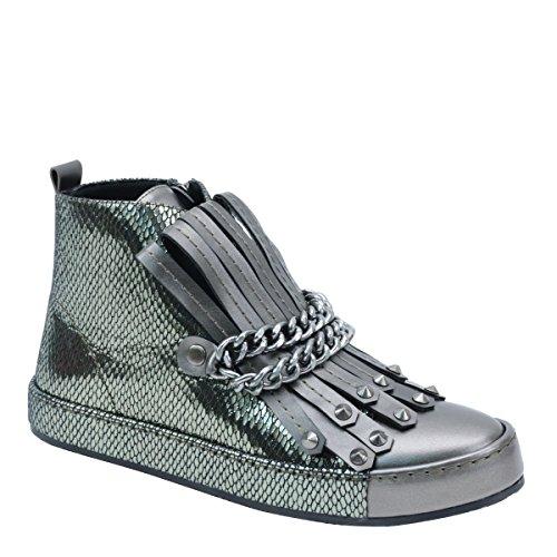 Brieten New Mujeres Chain High-top Sneaker Sneaker Peltre