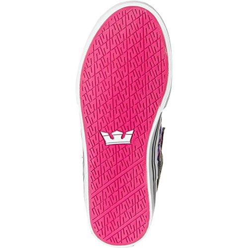 Supra SKYTOP - Zapatilla alta de lona mujer Pink/Grau