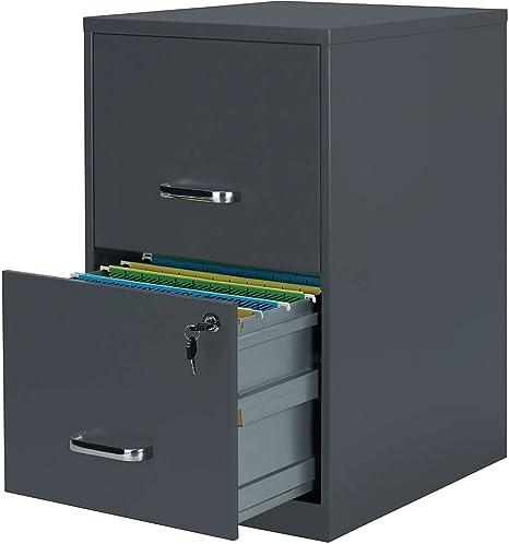 Staples 2806262 2 Drawer Vertical File Cabinet Locking Letter