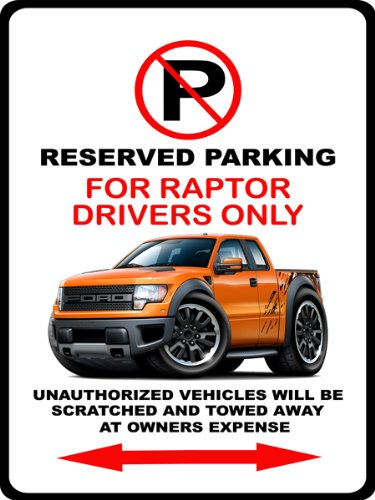Desert Tan Ford Raptor >> Ford Raptor F150 Pickup Truck F-150 4x4 Car-toon No Parking Sign - Buy Online in UAE. | Products ...