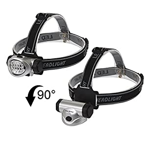 EverBrite 5-Pack LED Headlamp Flashlight for Running, Camping, Reading, Fishing, Hunting, Walking, Jogging, Durable Light Weight Head Lights Batteries Included