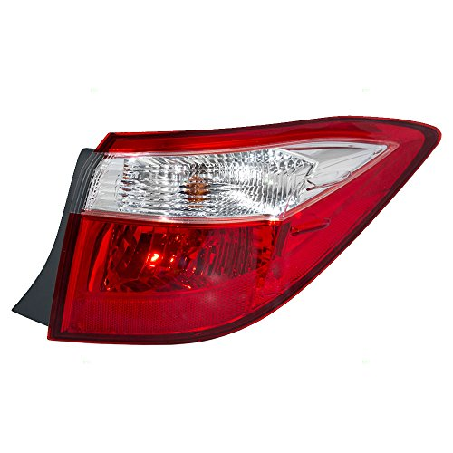 (Passengers Taillight Tail Lamp Quarter Panel Mounted Lens Replacement for Toyota Corolla 81550-02750 AutoAndArt)