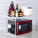 Iron Shelf Kitchen Shelf Microwave Oven Rack Rack Shelf Storage Rack Kitchenware Pot (single Layer) ( Color : White )
