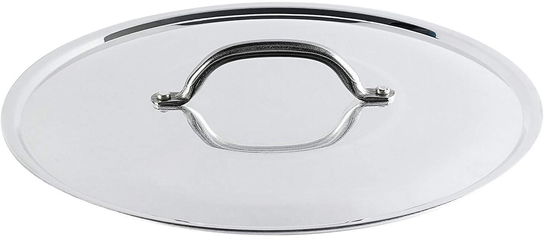 Pentole Agnelli Aluminium Round Lid With Steel Bridge Diameter 16 Cm.