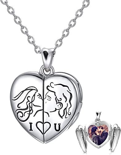 2 x Antique Silver Large Flower Heart Shape Charms Pendants for Necklace Making