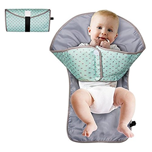 Portable Diaper Changing Pad Clutch Travel Changer Kit for Baby and Infant Diaper Changing Station (Green)