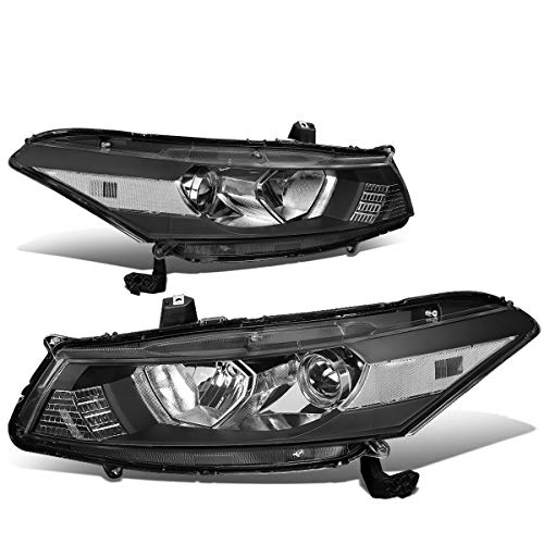 DNA Motoring Black clear HL-OH-HA082D-BK-CL1-T2 Pair OE Style Front Driving Headlight/Lamp Set