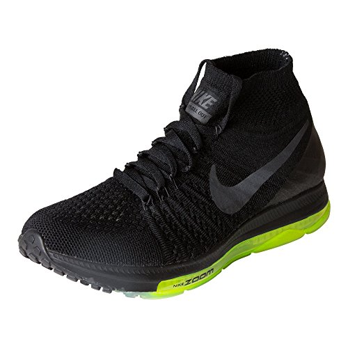 Nike Dames Zoom All-out Flyknit Loopschoenen Zwart / Zwart-volt