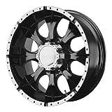 16 truck hub cap set - Helo HE791 Gloss Black Machined Wheel - (16x8
