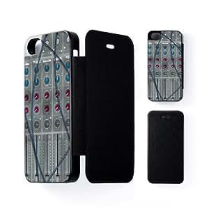 Mixing Desk Carcasa Protectora Snap-On Negra en Formato Duro para Apple® iPhone 5 / 5s de Nick Greenaway + Se incluye un protector de pantalla transparente GRATIS