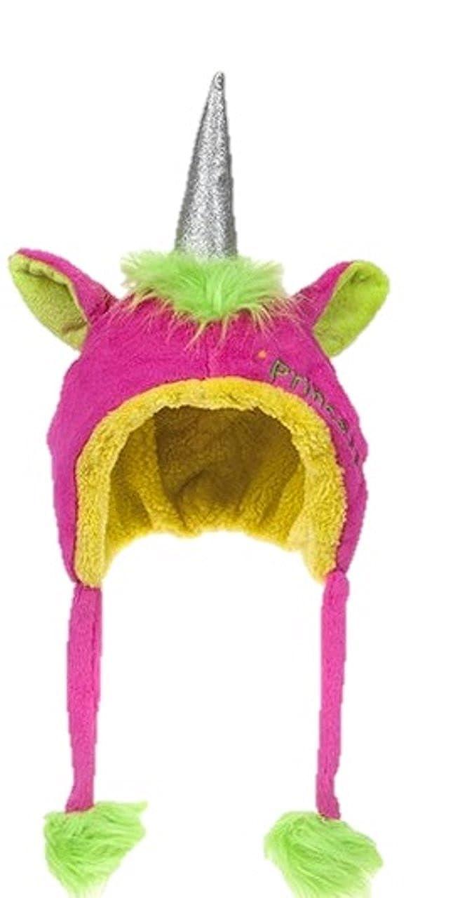 Gosh! Girls Unicorn hat Princess 3D Horn Novelty Glitter Fleece