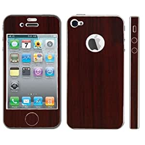 Full Housing Wood Texture Protective Skin Sticker for iPhone 4 & 4S