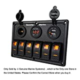 6 Gang Marine Switch Panel Waterproof - Orange