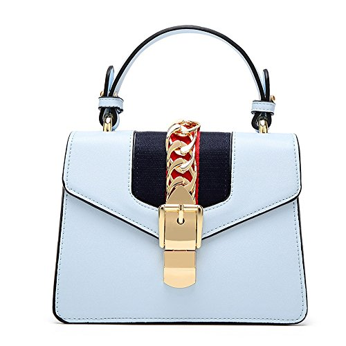 PU Delicate Hit Metal Shoulder Color Blue Oblique Bag Leisure Waterproof Blue FangYOU1314 Color 5XxwqaCC