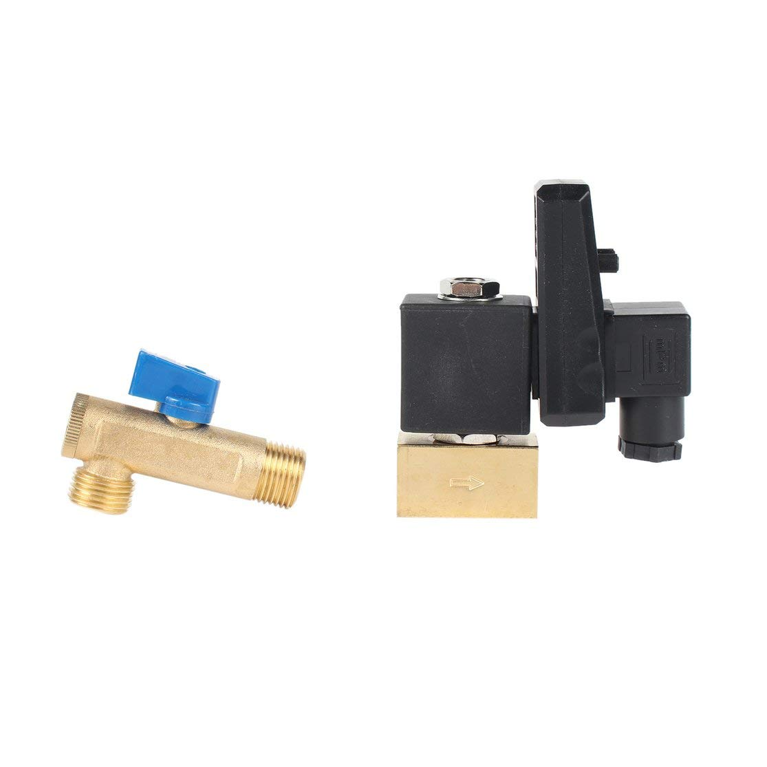LouiseEvel215 Electronic Drain Valve Timed Gas Tank Automatic Drain Valve 1//2 Port AC 220V 2-way Brass Valve for Air Compressor