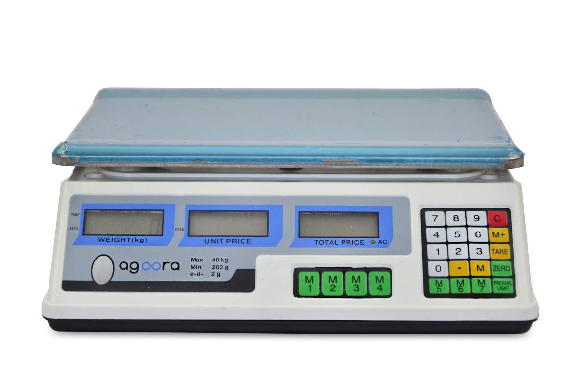 Bascula balanza frutera comercio hasta 40kg suma bateria de seguridad
