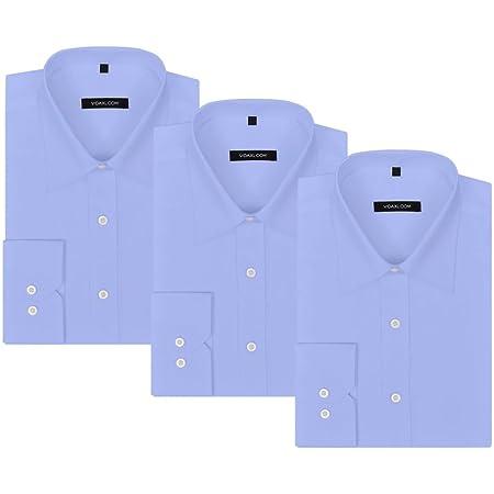 ACCEWIT Camisa para Hombre, 3 Unidades. Talla S, Color Azul Claro ...