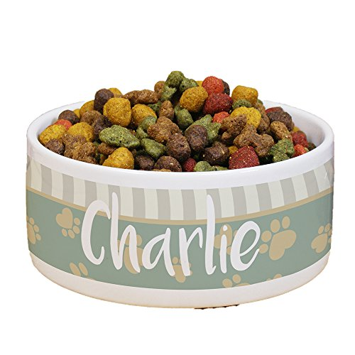 GiftsForYouNow Heart Paw Personalized Pet Food Bowl For Sale