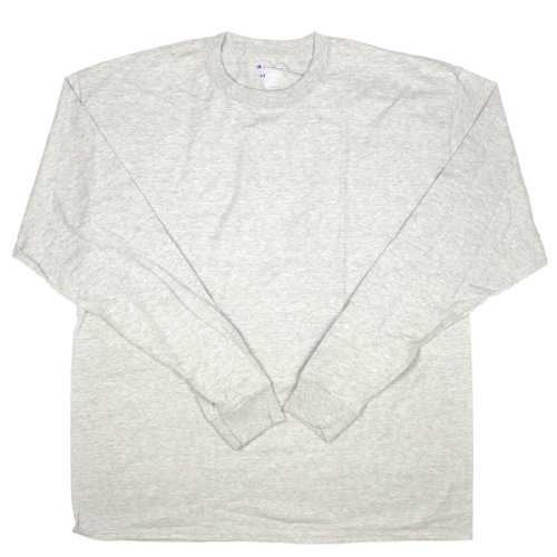 Champion Mens Long Sleeve Crew Tee Shirt XX-Large Oxford Gray