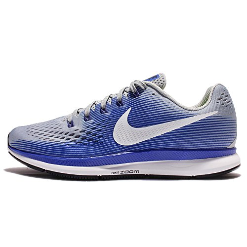 NIKE Men s Air Zoom Pegasus 34 Running Shoe Wolf Grey White-Racer Blue 12.5