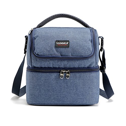 Insulated Lunch Bag Insulated Lunch Box Insulated Refrigerated Lunch Box preDinner Lunch Box Adjustable Shoulder Strap Picnic Lunch Bag Waterproof Tote Bag Camping Working Lunch Set 7L Blue
