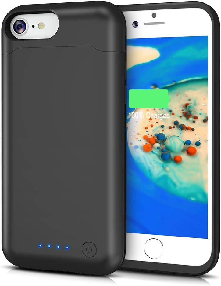 LCLEBM - Funda con batería para iPhone 6 Plus/6S Plus/7 Plus/8 Plus, 8500 mAh, Cargador portátil Compatible con iPhone 6 Plus/6S Plus/7 Plus/8 Plus: Amazon.es: Electrónica