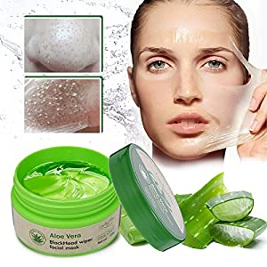 LuckyFine Aloe Vera Peel Off Facial Mask - Blackhead Removal - Acne Treatment - Oil Control - Facial moisturizing - Face Whitening