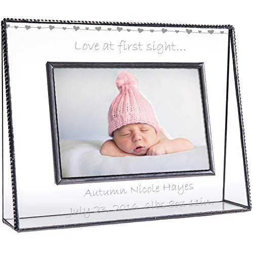 J Devlin Pic 319-46H EP558 Baby Picture Frame Personalized Gift Clear Engraved Glass 4x6 Photo Frame