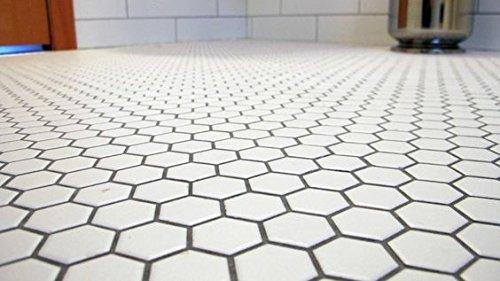 Daltile Hexagon White Porcelain Mosaic Tile Matte Look 1x1 Inch